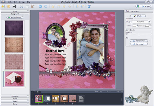 personalize scrapbook template