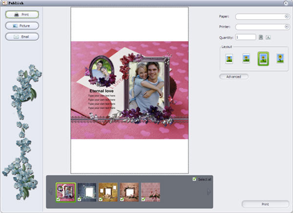 save and publish scrapbook